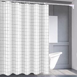 FOOJO富居浴帘浴室门帘隔断帘窗帘PEVA方格150×180cm 12.72元