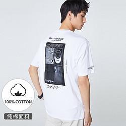 SELECTED思莱德新SMILEY笑脸系列潮流印花T恤短袖男 421301079 169元