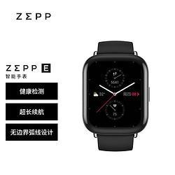 ZEPPZeppE时尚智能手表NFC50米防水方屏版曜石黑氟橡胶表带 1419元
