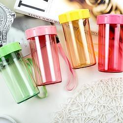 Tupperware特百惠雅致塑料杯小巧便携带拎绳儿童学生随心水杯子310ml*3(颜色随机)    142.9元