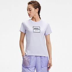 ANTA安踏女运动T恤圆领短袖针织衫时尚百搭纯色户外舒适夏季休闲短T49元