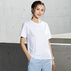 ANTA安踏短袖女圆领针织衫休闲t恤女式时尚百搭纯色夏季户外舒适76元