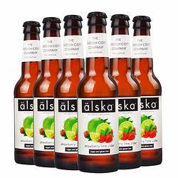 Alska艾斯卡进口Alska艾斯卡果味酒草莓青柠330ml*6瓶 65.4元