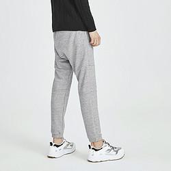 MARKFAIRWHALE马克华菲秋冬新款男式休闲裤简约纯色运动拼接抽绳针织长裤 63元