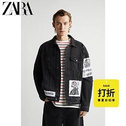 ZARA[折扣季]男装补丁饰牛仔夹克外套01466402800 159元