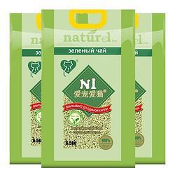 N1爱宠爱猫绿茶豆腐猫砂6.5kg*3包n1猫砂无尘大包装升级2.0颗粒 216元