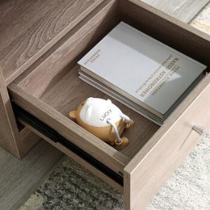 全友家居小件床头柜经典百搭原木风简易半开放卧室床边收纳储物柜106302XJ