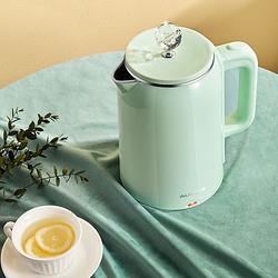 AUX奥克斯304不锈钢电水壶热水壶1.8L大容量电热水壶三层防烫烧水壶1862S 55元