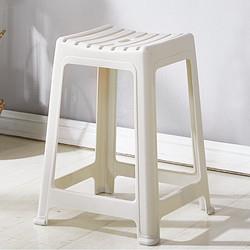 景彩凳子塑料凳加厚家用餐椅板凳浴室凳高凳JC101灰白色    32元