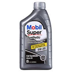 Mobil美孚全合成机油速霸5W-20SN1Qt946ml/桶 22.5元