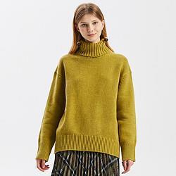 ME&CITY秋冬女装高领羊毛衫套头针织打底衫女式毛衣 115元
