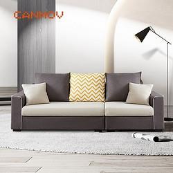 canmov沙发现代简约小户型布艺可拆洗乳胶客厅沙发2028三人位 1099元