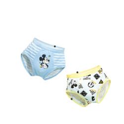 DisneybabyDB022GY53男童三角内裤2条装白底满印+蓝白条款100cm15.75元