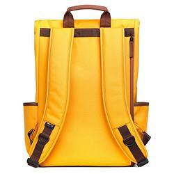 NINETYGO90分15.6英寸双肩电脑包活力学院黄色 179元