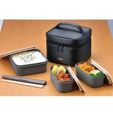 THERMOS 膳魔师 饭盒6件套装 1.8L DJF-1800BK ¥166.35