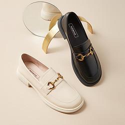 hotwind热风21年新款复古英伦奶奶鞋玛丽珍鞋粗跟女乐福鞋单鞋 129元