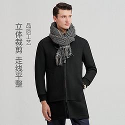 YANXUAN网易严选福利清仓!针织双面呢羊毛立领男士大衣 232元