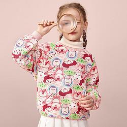 Disneybaby21秋新女童卫衣儿童卡通时尚印花上衣 79元
