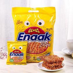 GEMEZEnaak印尼进口(GEMEZEnaak)小鸡干脆面方便面烧烤味干吃面240g(30g*8袋) 15.04元