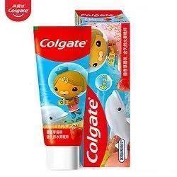 有券的上:Colgate高露洁海底小纵队儿童牙膏草莓味70g 1.7元