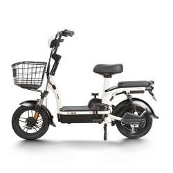 Yadea雅迪小金果高能版电动自行车TDT1220Z48V12AH铅酸电池白色 1529元